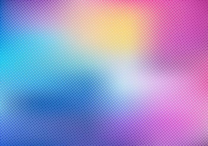 Sfondo sfocato colorato con trama sovrapposizione effetto mezzetinte vettore