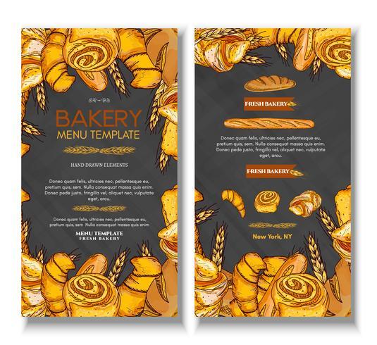 Plantilla de diseño de portada de panadería