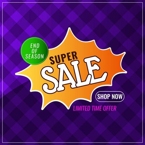 Abstract super sale colorful background vector