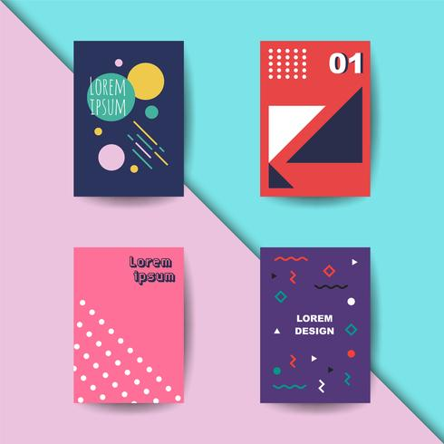 trendy cover set vector