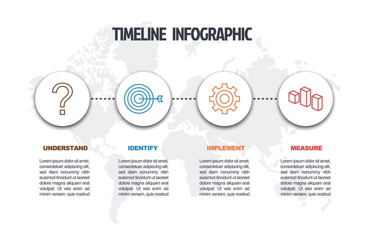 business minimal infographic template vector
