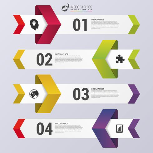Design rena antalet banners Infographic mall