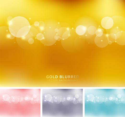 Set of colored blurred background with circles, bokeh and sparkle vector