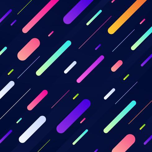 Colorido patrón geométrico dinámico con líneas diagonales vector