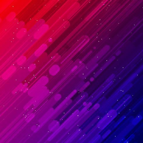 Rayos láser rojo y azul luz y efectos de iluminación fondo diagonal vector