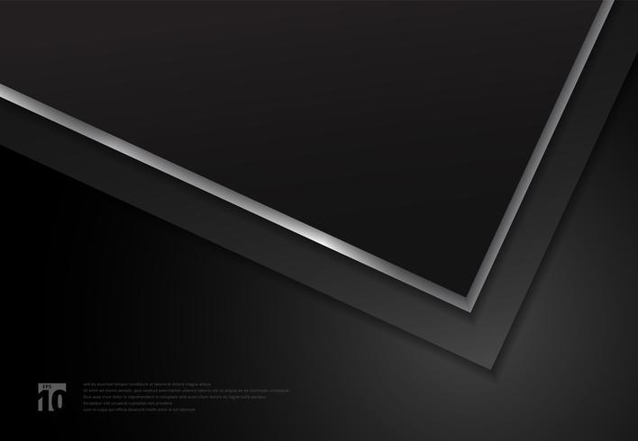 Black geometric overlapped layers pattern vector