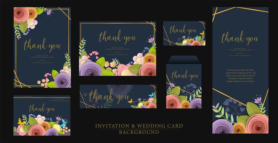 Diseño de invitación vector