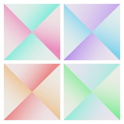 Set of colorful pyramid geometric triangles vector