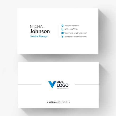 Blue logo corporate business card
