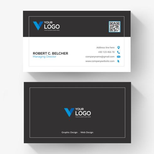Black Creative Business Card Template Download Free