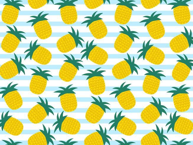 Summer Pineapple Vector Background