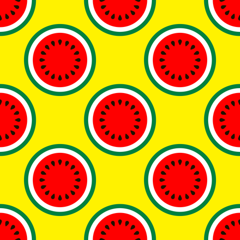 Half Of Watermelon Seamless Pattern