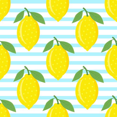 Limones sobre fondo de rayas azules