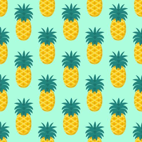 Naadloze het Patroonvector van het Ananasfruit