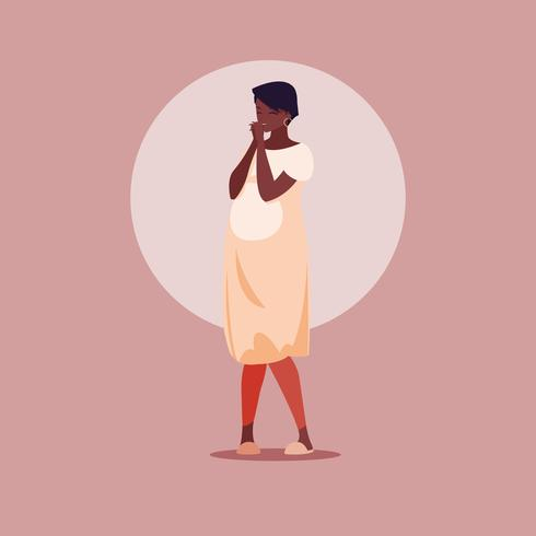 Femme enceinte dans une robe
