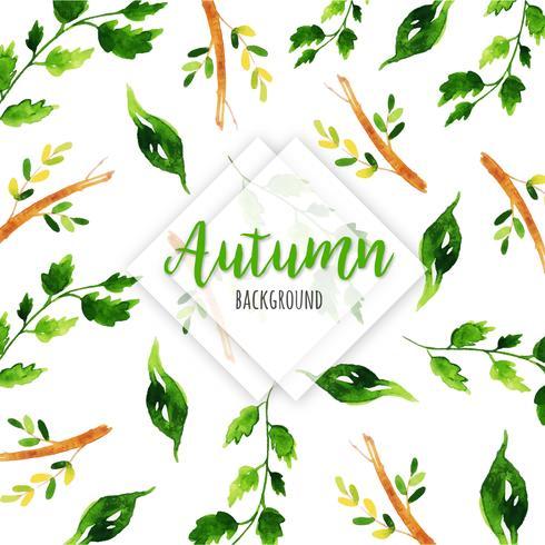 Beautiful Greenery Watercolor Background vector