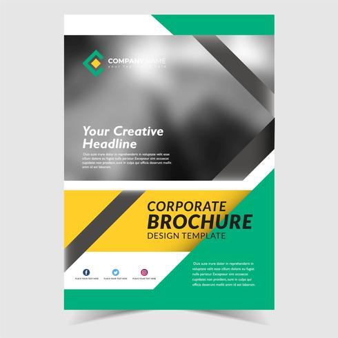 Design de modelo de panfleto de negócios vetor