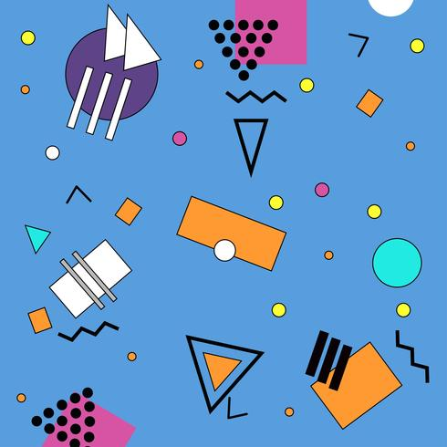 Blue memphis illustration background vector