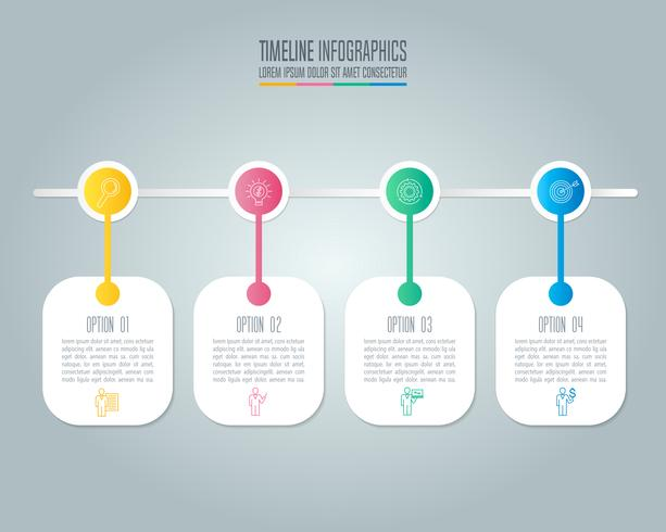Creative concept for infographic with 4 options, parts or processes.