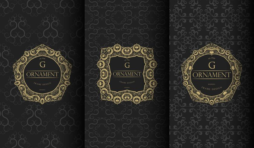 Set di modelli neri di lusso