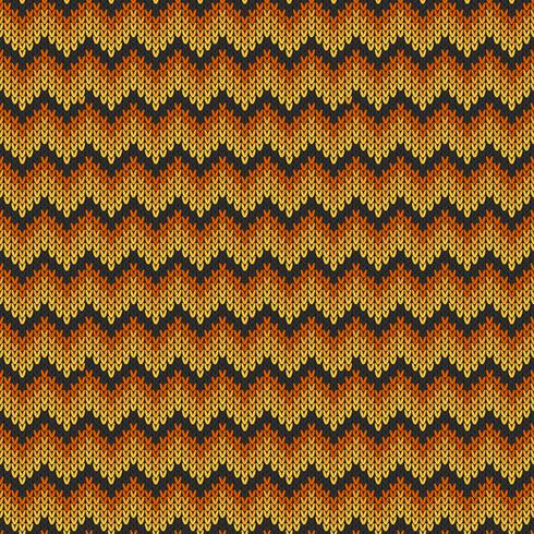 Geometric knitted chevron pattern vector
