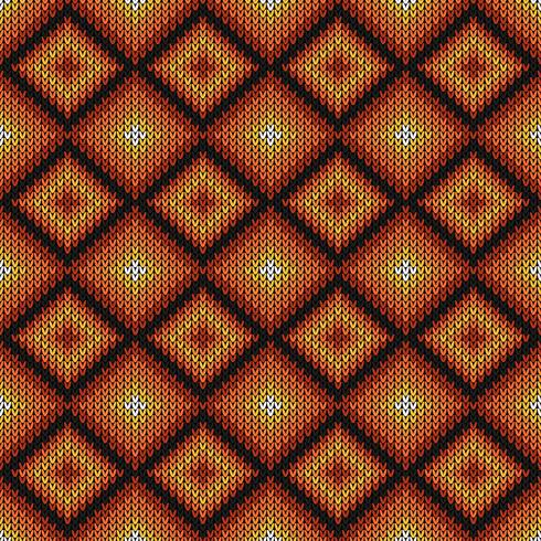 Geometric diamond knitted pattern vector