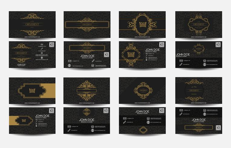 Set of business card Luxury vector