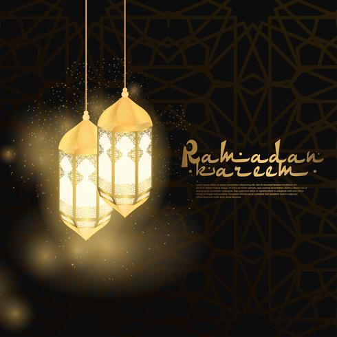 Ramadán Kareem islámico vector
