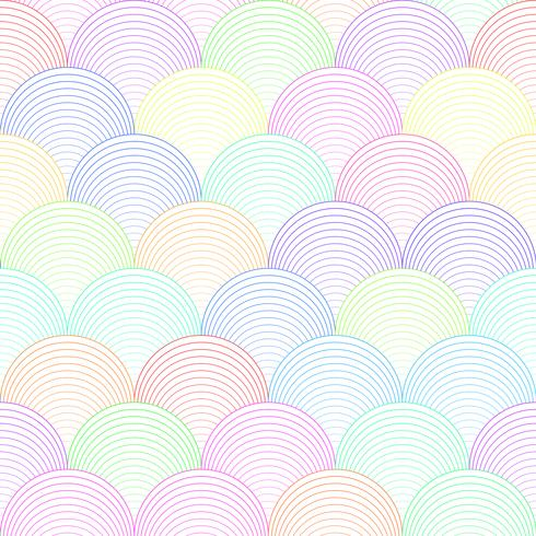 Color wave seamless pattern vector