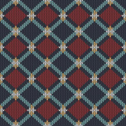 Geometric ethnic knitted pattern vector
