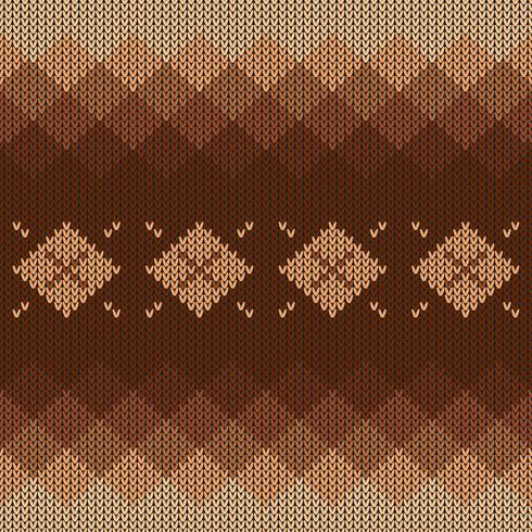 Geometric knitted pattern with gradient and diamonds vector