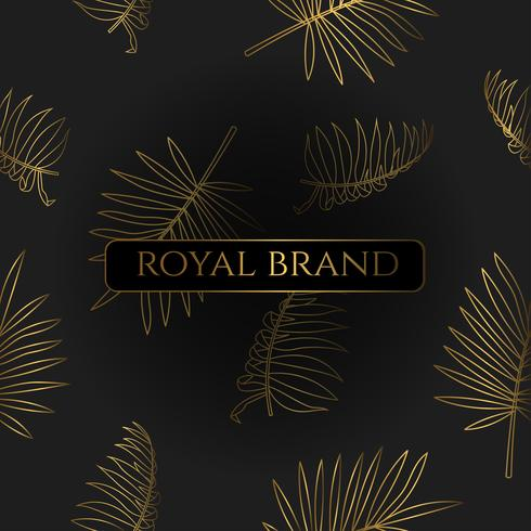 Luxury Background with Gold Color vector