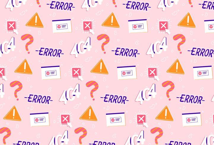 Fondo de patrón de solución de problema de error dibujado a mano vector