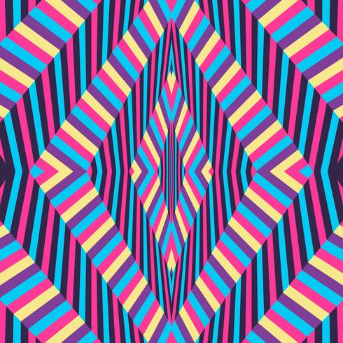 Optical Illusion colourful background vector