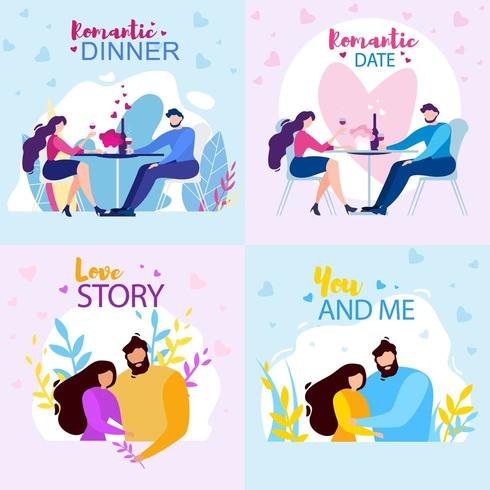 You and Me Banner Set vector