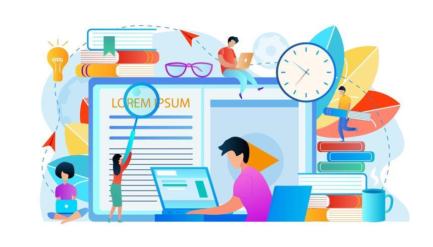 Pessoas, estudar - Download de Vetor
