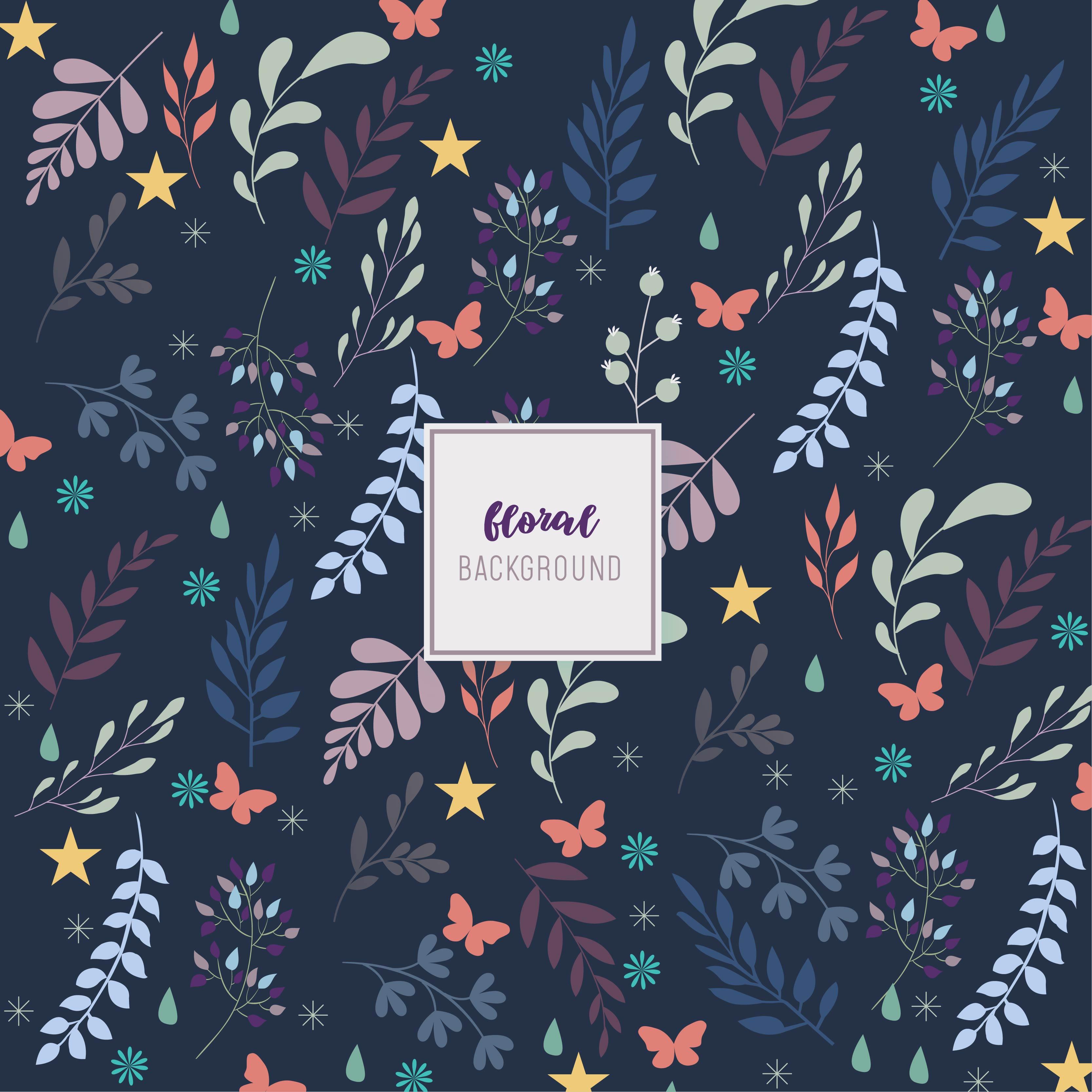Navy Floral Background Design Download Free Vectors Clipart
