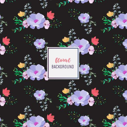 Donker bloemenpatroonontwerp