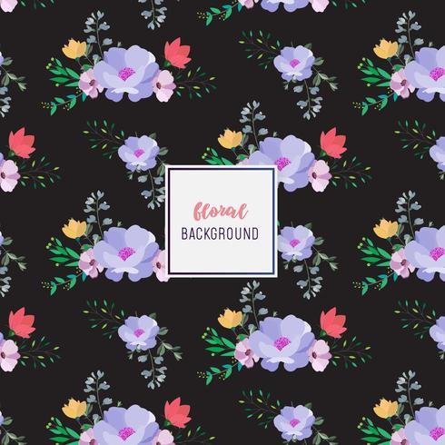 Dark Floral pattern design vector