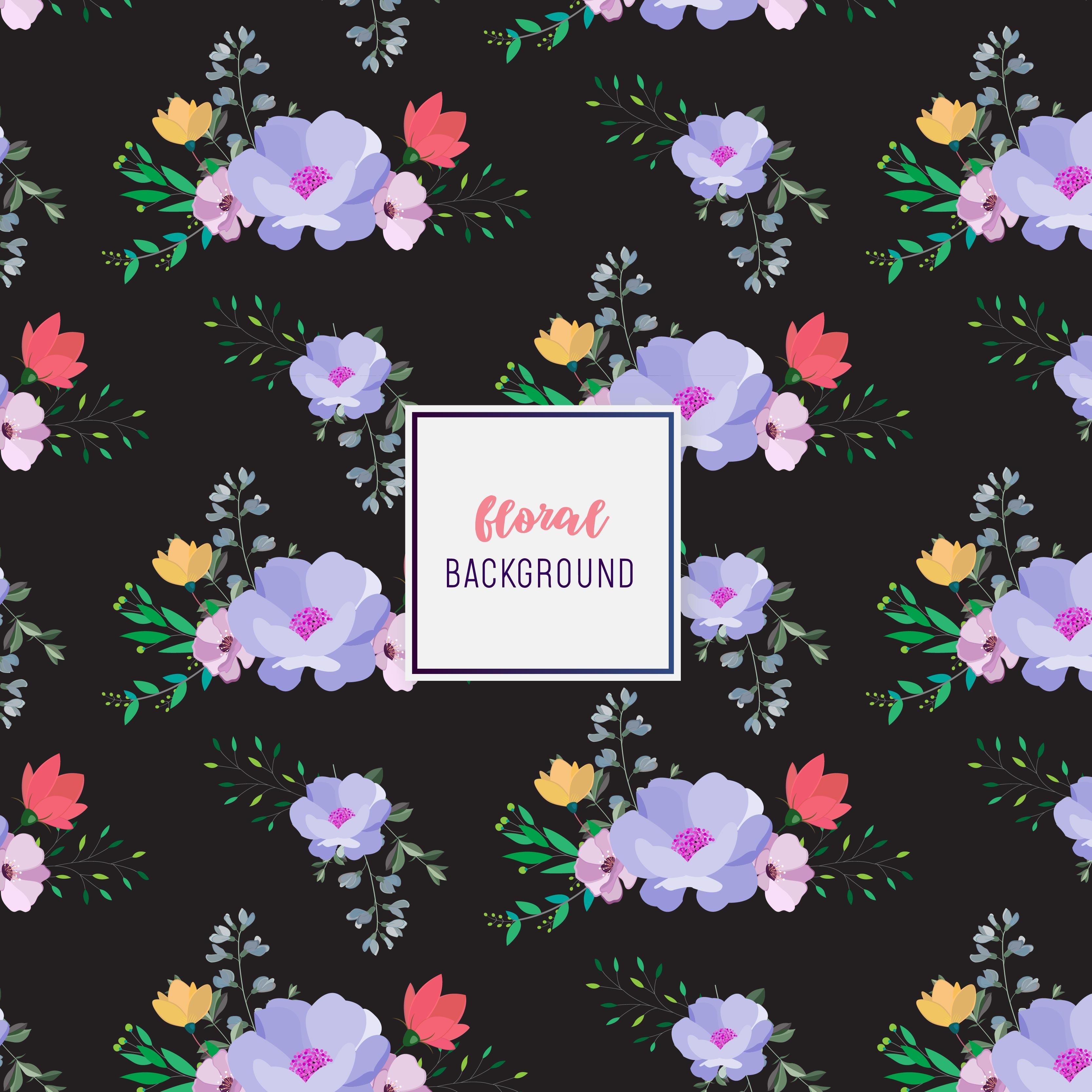 Dark Floral Pattern Design Download Free Vectors Clipart