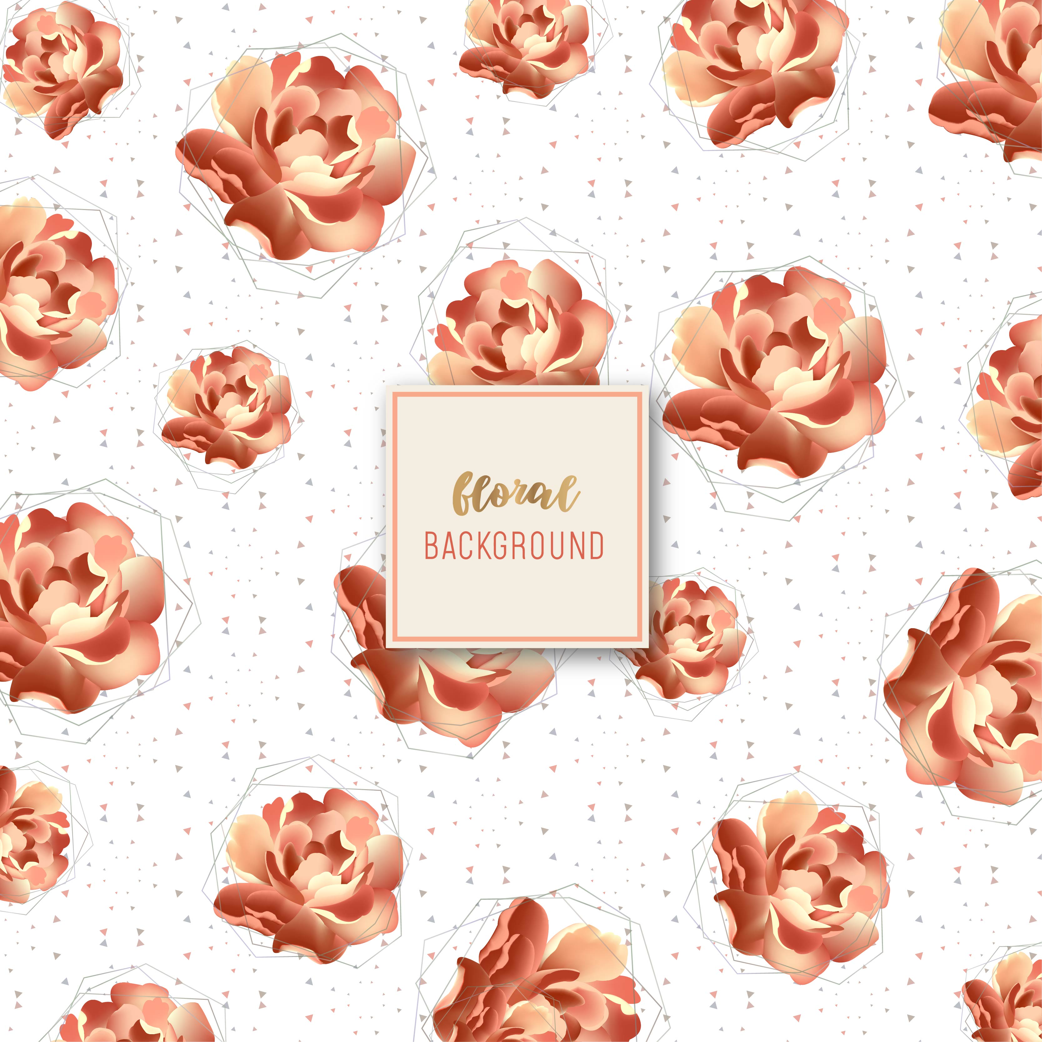 Golden Rose Floral Pattern Design Download Free Vectors Clipart