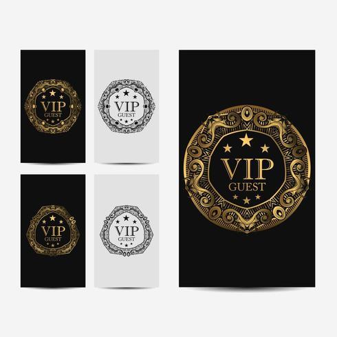 Tarjeta de lujo VIP premium vector
