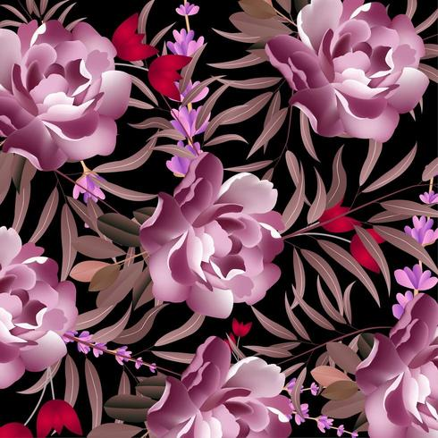 Modern Floral pattern design vector