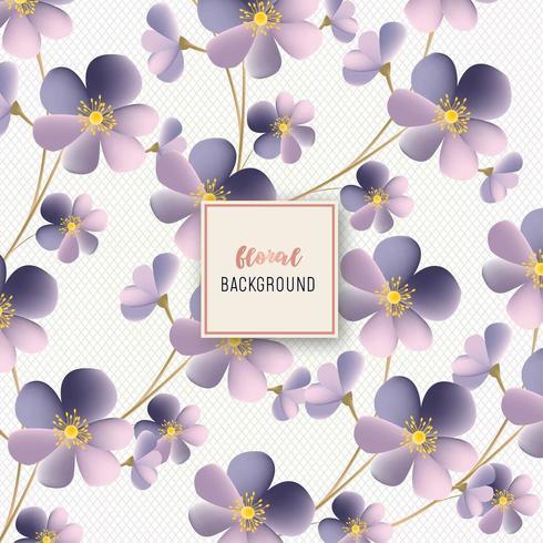 Beautiful Purple Flower Floral pattern design vector