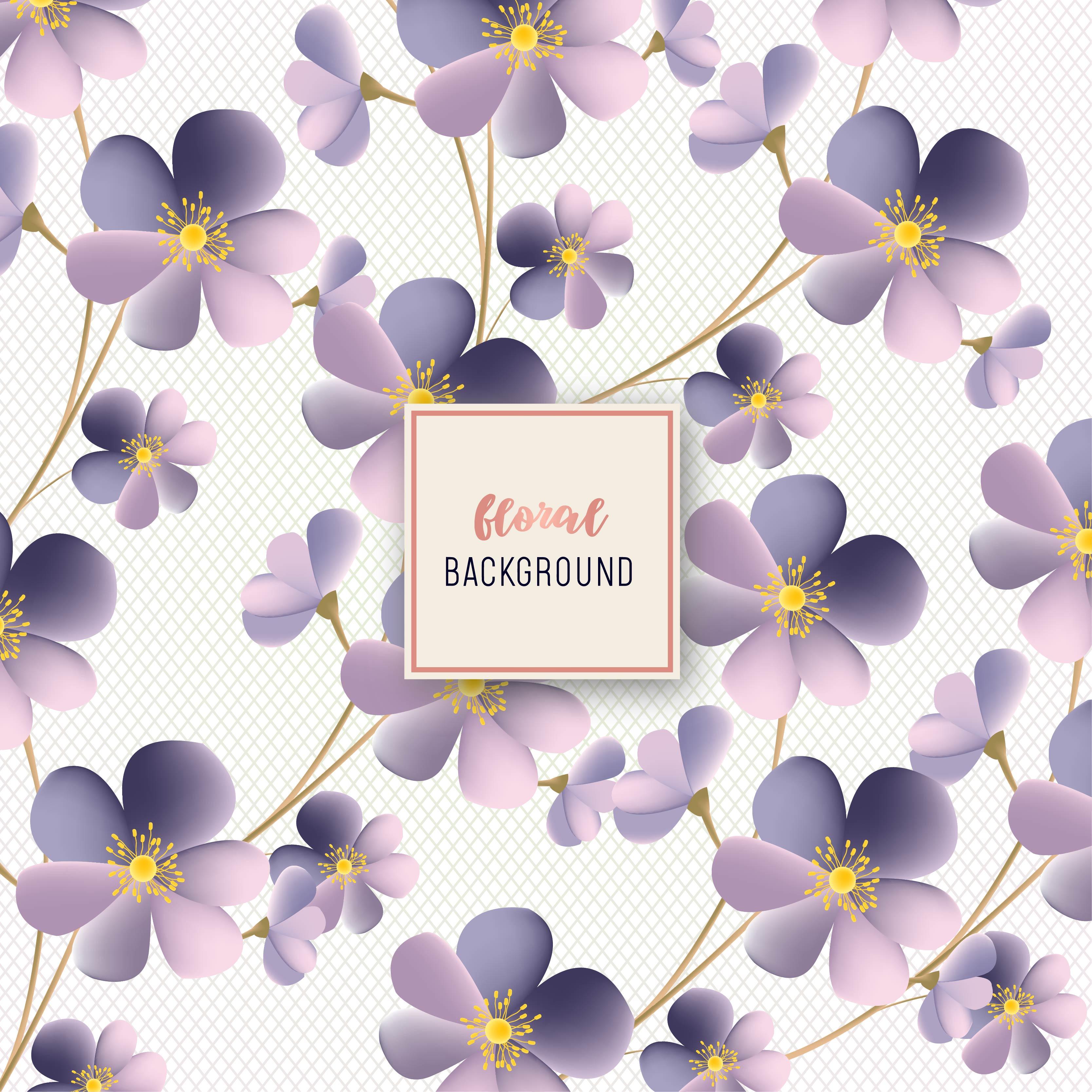 Beautiful Purple Flower Floral Pattern Design Download Free