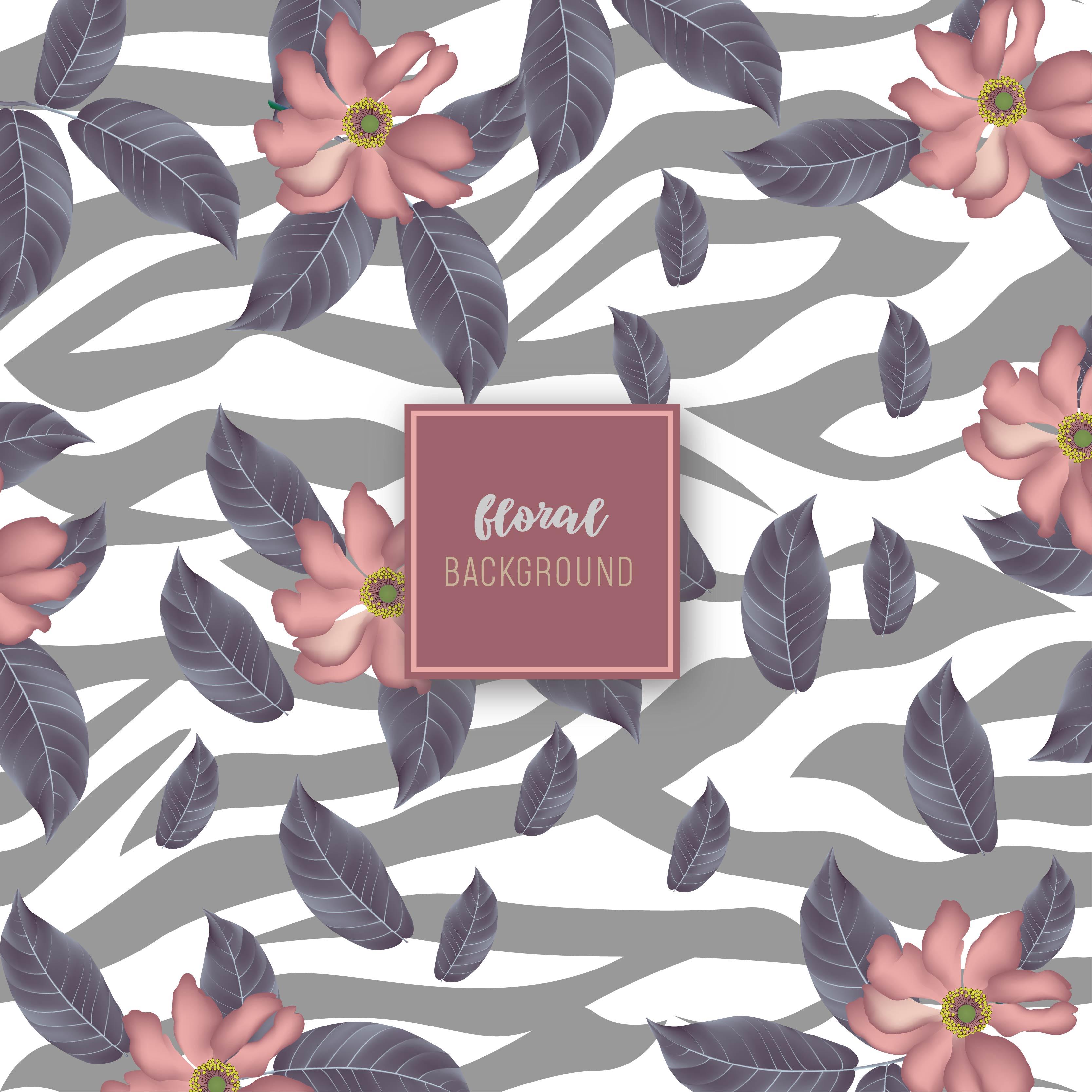 Layered Modern Floral Pattern Design Download Free Vectors