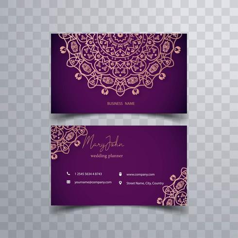 Bloemen Kalamkari-visitekaartje