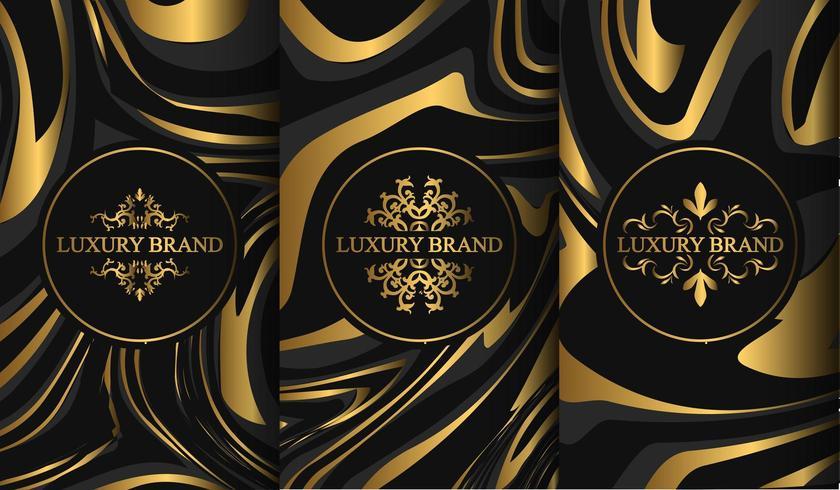 Conjunto de modelos de etiqueta de luxo