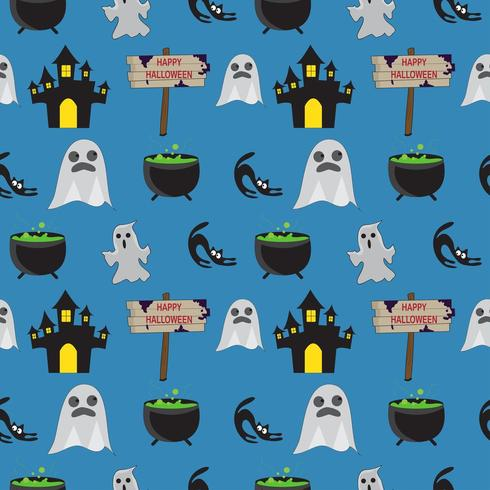 Halloween Naadloos Geestpatroon