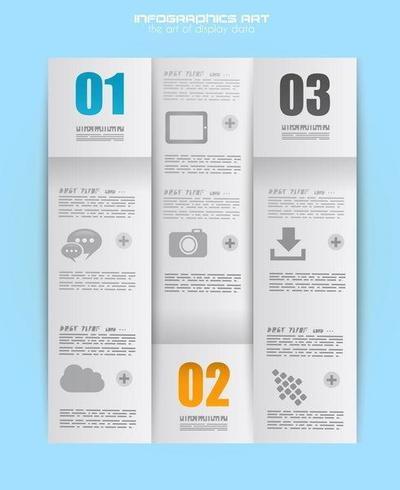 Infographik Entwurfsvorlage mit Papierfalte